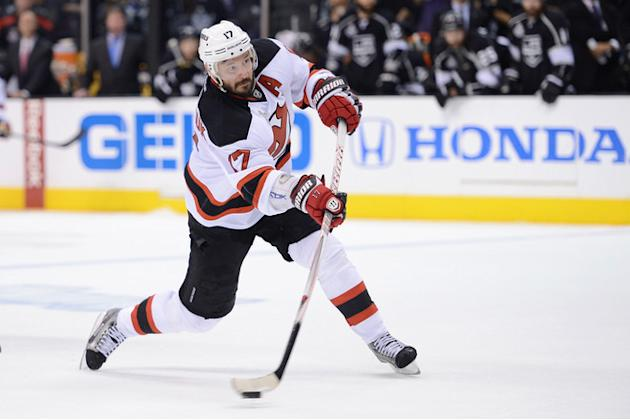 Ilya Kovalchuk #17 Of The New Jersey Devils Shoots Getty Images