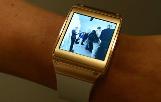 Samsung's Galaxy Gear smartwatch unveiled today. (Samsung photo)