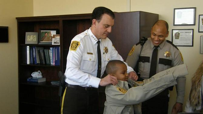 Terminally Ill Boy Gets Final Wish to Be Sheriff for a Day