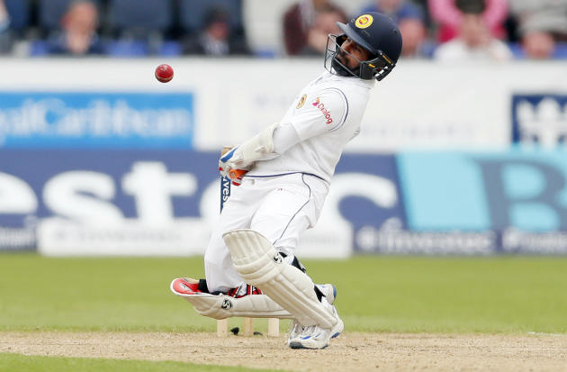 Sri Lanka's Kaushal Silva in action, during day three of the Second Test cricket match between England and Sri Lanka, at the Emirates Riverside, in Chester-Le-Street, England, Sunday May 29, 2016.