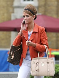 Millie Mackintosh from Made in Chelsea filming on the King's Road.