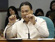 Supreme Court Chief Justice Renato Corona at his impeachment trial at the Senate in Manila on May 25. Philippine senators are set to vote Tuesday on whether to sack the nation's top judge after a historic trial over alleged corruption which saw him accused of hiding millions of dollars in assets