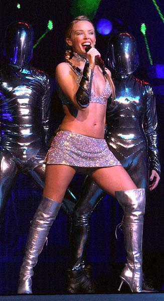 Kylie on her Fever tour, 2002
