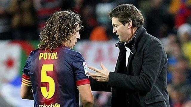 Liga - Puyol pays tribute to 'inspirational' Vilanova