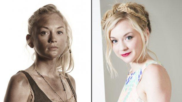 Emily Kinney as Beth Greene (left); Emily's music promo pic (right) -- Corey Hayes, AMC