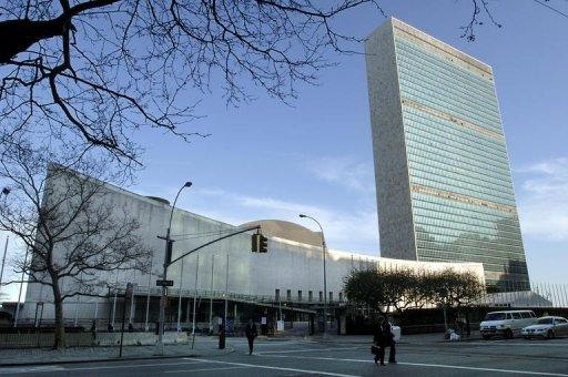 UN headquarters, pictured on April 14, 2005, in New York. China, Brazil, India and other emerging powers agreed to major increases in their UN payments as the global body hammered out a new budget deal this week to avoid its own fiscal cliff. The boom countries will pay more as economic crisis allows European nations, such as Britain, Germany and France and Japan to cut their contributions.