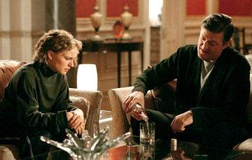 Natalie Portman as Evey and Stephen Fry as Deitrich in Warner Bros. Pictures' V for Vendetta