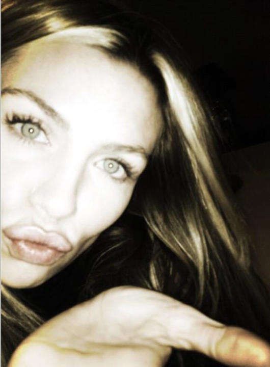 "Celebrity Twitpics: Abbey Clancy tweeted this photo to her followers on her birthday earlier this week. She tweeted it alongside the caption: ""Birthday kisses!"""