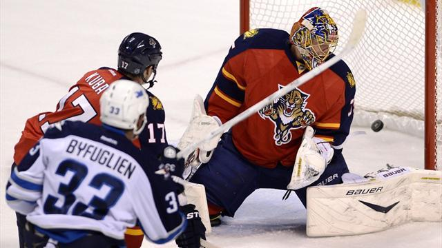 Ice Hockey - Jets down Panthers in OT
