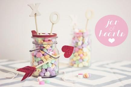 Jar of Conversation Hearts