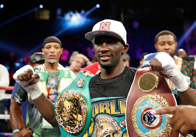 Terence Crawford unified the World Boxing Organization and World Boxing Council super lightweight world titles and improved to 29-0 with 20 knockouts