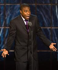 "FILE - In this March 26, 2011 file photo, actor and comedian Tracy Morgan appears onstage at the ""The Comedy Awards"" presented by Comedy Central in New York. Morgan delivered a personal apology to gay advocacy groups and audience members in Nashville, Tenn., who were offended by an anti-gay rant during his June 3 show there. Morgan met with them Tuesday, June 21, and later addressed reporters at the Nashville Convention Center. He did not take questions. (AP Photo/Charles Sykes, file)"