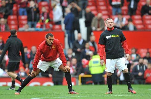 Rio Ferdinand, left, has trained as normal ahead of United's Champions League clash with Braga