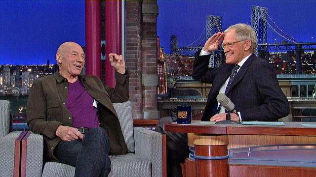 David Letterman - Captain Patrick Stewart