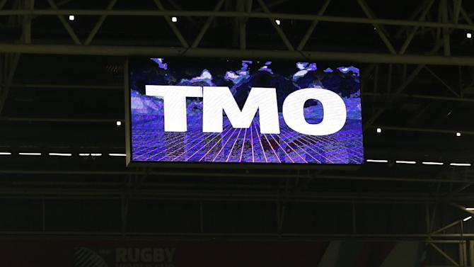 General view of a TMO announcement on the big screen