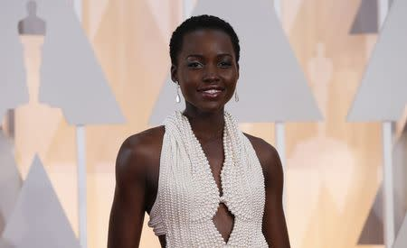 File photo of actress Lupita Nyong'o arriving at the 87th Academy Awards in Hollywood