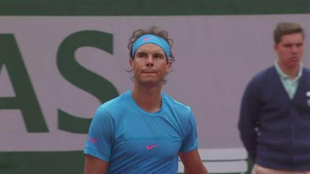 Action from the French Open at Roland Garros