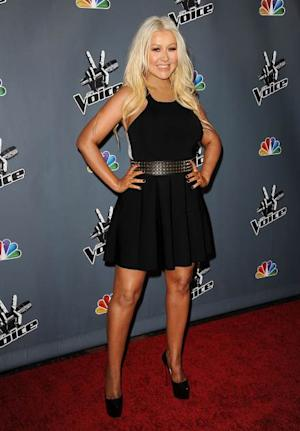 Christina Aguilera stuns on the red carpet of NBC's 'The Voice' Season 4 premiere at TCL Chinese Theatre on March 20, 2013 in Hollywood -- FilmMagic