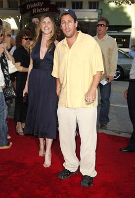 Adam Sandler and wife Jackie at the LA premiere of Columbia's Click