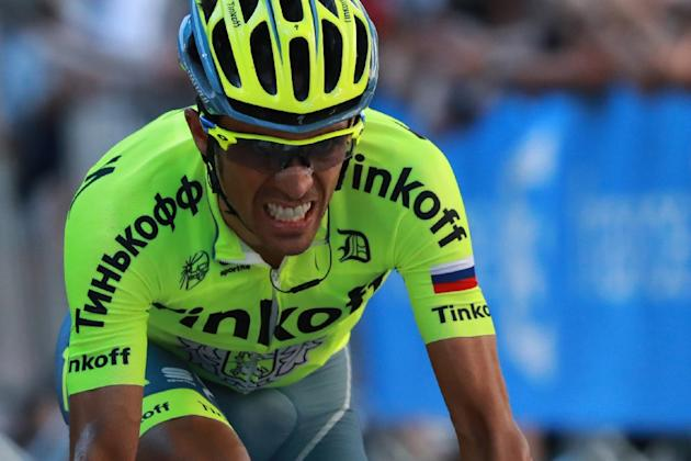 Spanish cyclist Alberto Contador, pictured on July 9, 2016, returns to competition in Saturday's San Sebastian Classic after quitting the Tour de France due to suffering injuries from crashes on b