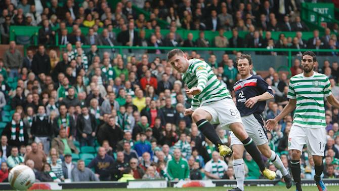 Gary Hooper scores the first goal