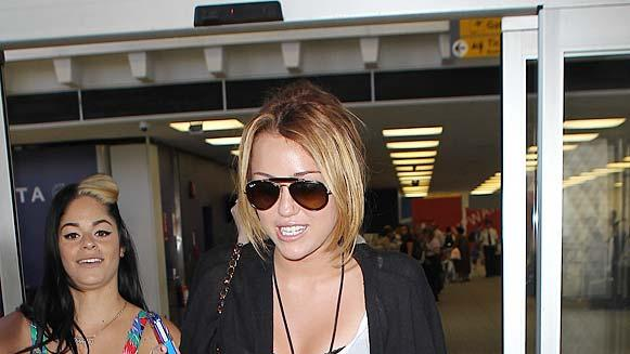 Cyrus Miley JFK Airport