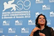 """Indian film director Mira Nair poses during the photocall of """"The Reluctant Fundamentalist"""" at the 69th Venice film festival on August 29, 2012 at Venice Lido. Four of the 18 films vying for the Golden Lion award are directed by women"""