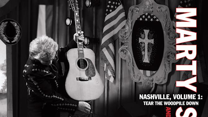 "In this CD cover image released by Sugar Hill Records, the latest release by Marty Stuart & His Fabulous Superlatives, "" Nashville Vol. 1: Tear the Woodpile Down,"" is shown. (AP Photo/Sugar Hill Records)"
