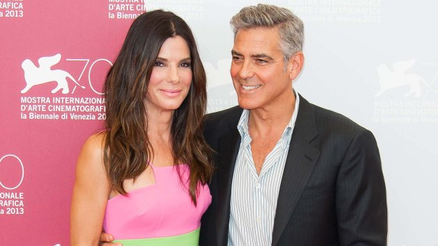 Sandra Bullock and George Clooney