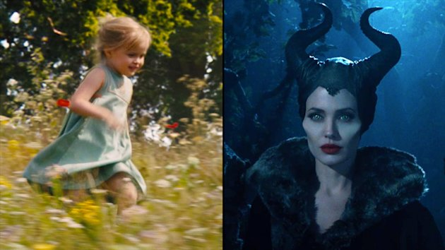Vivienne Jolie-Pitt and Angelina Jolie-Pitt in 'Maleficent'