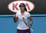 China's Li Na wins a point against Kazakhstan's Sesil Karatantcheva during their first-round match at the Australian Open on January 14, 2013. The world number six Li, the runner-up two years ago, overpowered Karatantcheva 6-1, 6-3