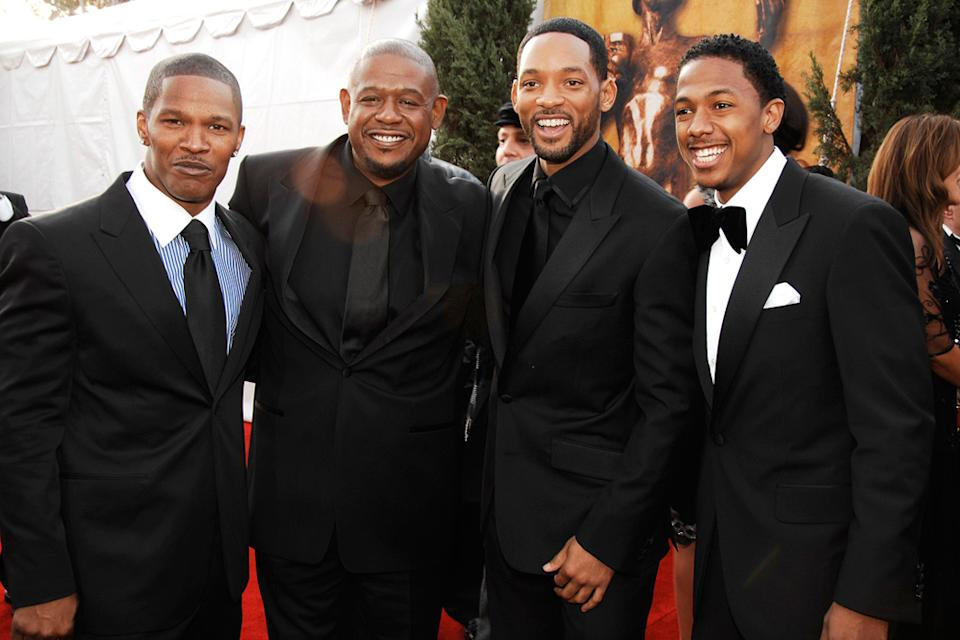 Jamie Foxx 2007 Forest Whitaker Will Smith Nick Cannon