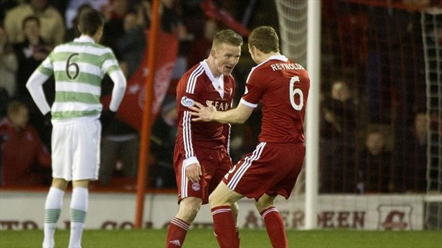 Scottish Premiership - Aberdeen end 10-man Celtic's unbeaten run