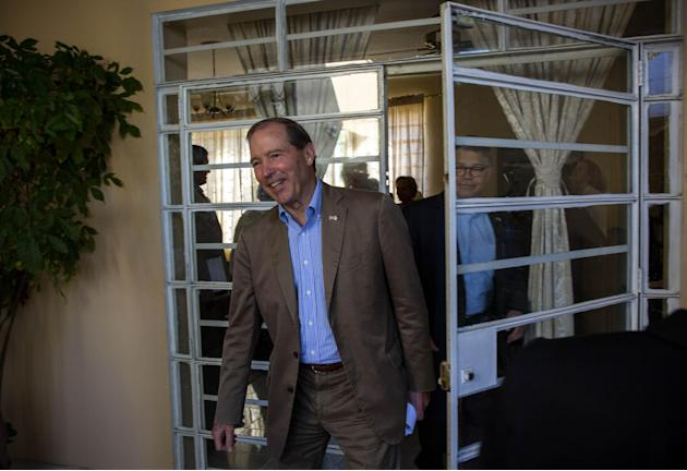 U.S. Senator Tom Udall, arrives at a press conference in Havana, Cuba, Wednesday, May 27, 2015. Udall, a New Mexico Democrat who led a four-member Democratic congressional delegation to Cuba, all supp