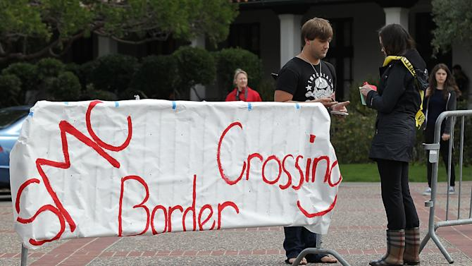 Saint Mary's College Stages Mock Immigration Checkpoint On Campus