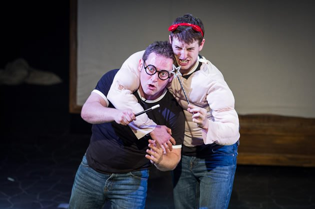 Gary Trainor as Harry Potter and Jesse Briton as Lord Voldemort. (Photo courtesy of Fulford PR)