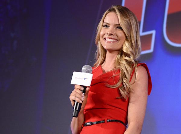 Image distributed for letv mlb host kelly nash seen at a press