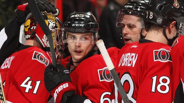 Ice Hockey - Sens beaten by Pens, lose Karlsson to Achilles injury