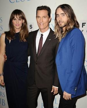 Jennifer Garner, Matthew McConaughey and Jared Leto attend the premiere of 'Dallas Buyers Club' at the Academy of Motion Picture Arts and Sciences on October 17, 2013 in Beverly Hills, Calif. -- Getty Images