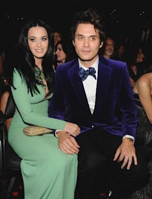 Katy Perry and John Mayer attend the 55th Annual Grammy Awards at Staples Center on February 10, 2013 in Los Angeles -- Getty Premium