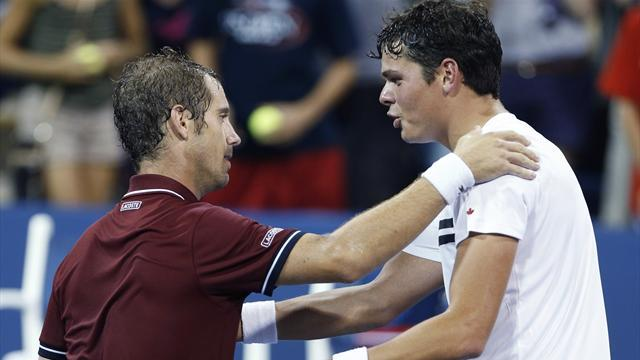 US Open - Gasquet blunts Raonic serve to reach quarters