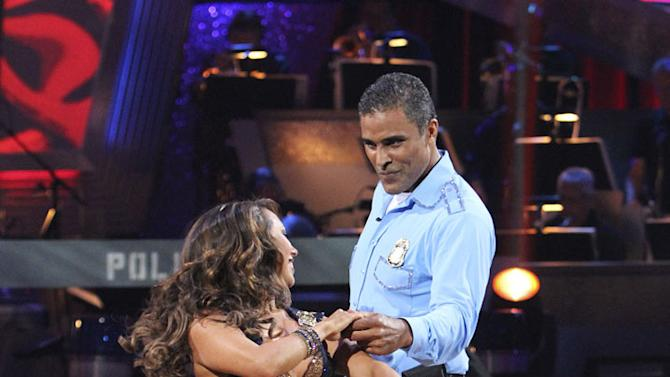 """Cheryl Burke and Rick Fox perform on """"Dancing with the Stars."""""""