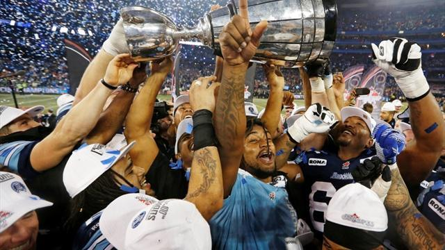 . - Argonauts rout Stampeders in 100th Grey Cup championship