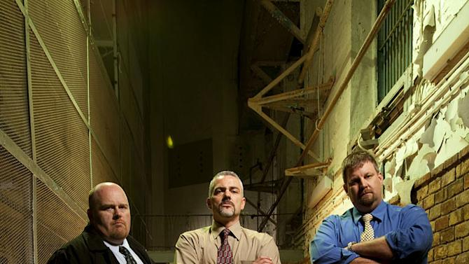 """Special Agent Joe England, Deputy Director Jerry Lester, and Special Agent Scott Miller in """"The Squad: Prison Police."""""""