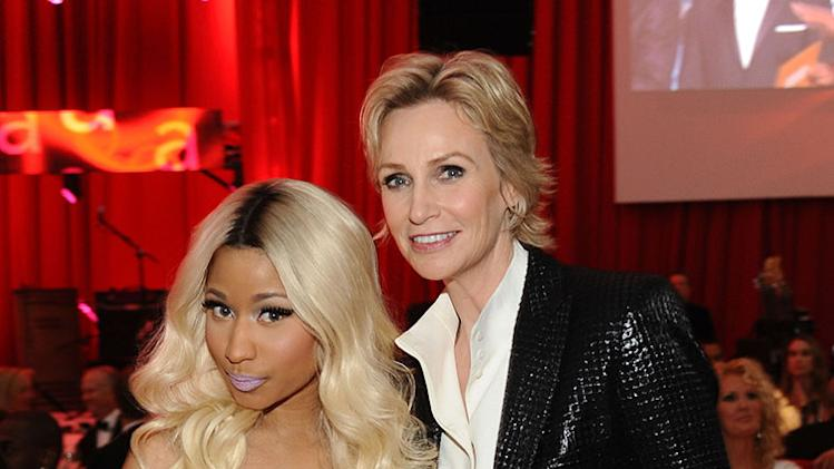 Chopard At 21st Annual Elton John AIDS Foundation Academy Awards Viewing Party: Nicki Minaj and Jane Lynch