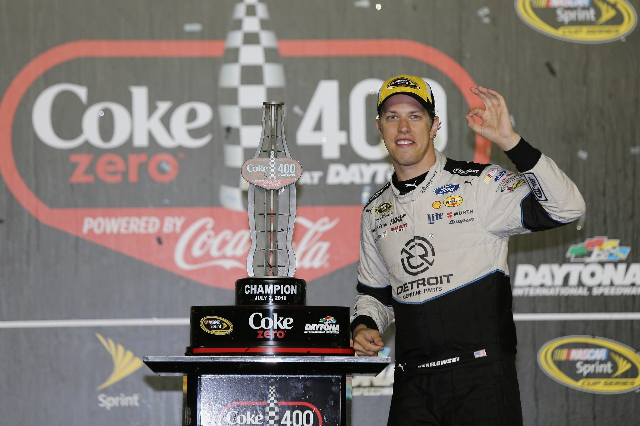 Maybe Keselowski's saying it's A-OK to be No. 1? (Getty)
