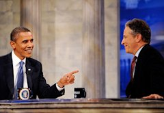 President Barack Obama, Jon Stewart | Photo Credits: PictureGroup/Comedy Central