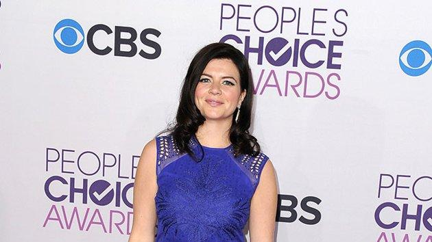 """BEST: Casey Wilson.  It's a stylish """"Happy Ending"""" for Wilson, who pulls off a bold cobalt blue Jerome C. dress paired with a bright pink clutch."""