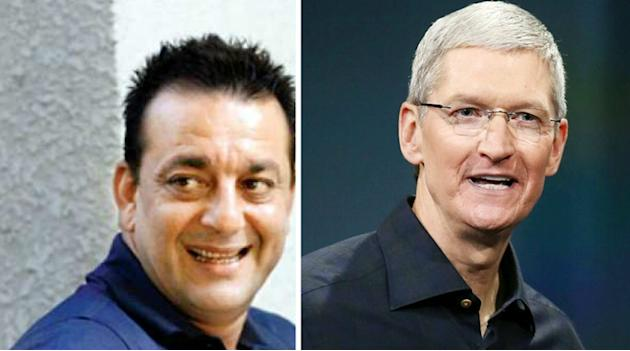 Sanjay Dutt enjoys cricket match with Apple CEO Tim Cook