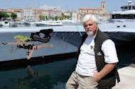 Paul Watson, founder of the Sea Shepherd Conservation Society is pictured in La Ciotat, south-eastern France, in 2011. A German court has ordered Watson to remain in custody a day after his arrest on a warrant from Costa Rica